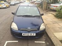 Toyota Yaris 1.3 vvti Gls AUTOMATIC 52 reg 3DR BLUE COLOUR WITH FULL SERVICE HISTORY private plate