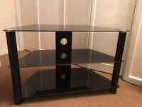 Black Toughened Glass TV Stand