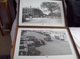2 BLACK & WHITE PRINTS OF MINEHEAD IN 1923 & 1930