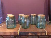 Set of 6 Small Glass Jars