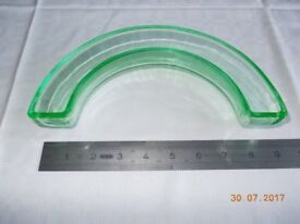 Vintage Green Glass Semi-circular Posy Ring