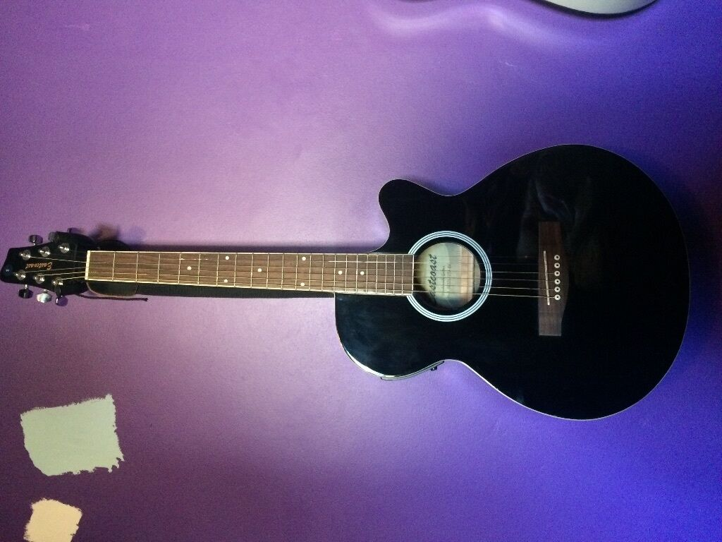 Black Eastcoast Electro Acoustic Guitar With Inbuilt Tuner Plus