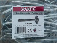 Bag of 50x Grabbfix Metal Insulation Fasteners (170mm)