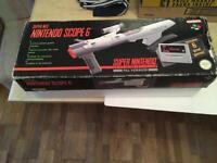 SUPER NINTENDO SNES SCOPE 6. BOXED.