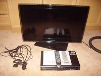 Samsung LCD Television, pioneer DVD player / hard drive recorder, Humax free sat box