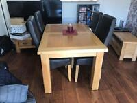 Used Solid Oak Dining Table & Four Chairs.