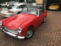 Red Austin Healey Sprite (1966) Good Condition.