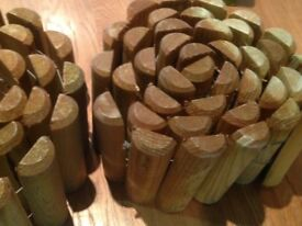 Garden log rolls, two new unused