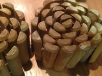 Garden log rolls, two new unused