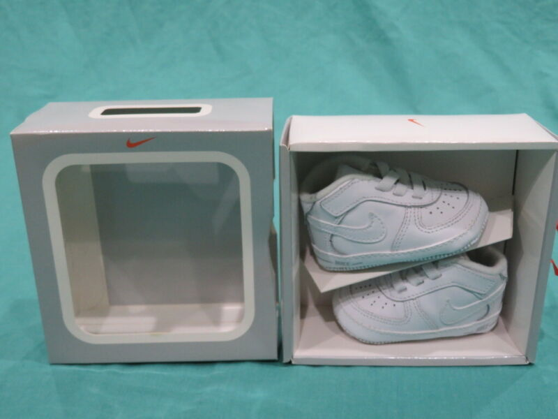 New Nike Air Force 1 Gift Pack Soft Bottom White Toddler Sho