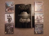 Playstation 3 with 6 games