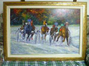 MAGNIFIQUE peinture - Le Prix d'Automne 1999 par l'artiste québecois Henry Giroux