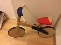 XMAS PRESENT - Wooden bike for 2-3 year old