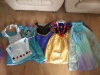 Disney Princess dressing up costumes