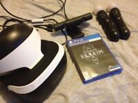 PSVR / move controllers x2/ camera and skyrim vr