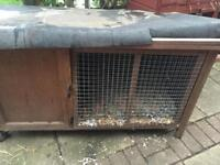 Rabbit hutch and wooden crate