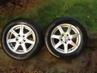 Alloy Wheels, Winter tyres, Pair Enzo with 205/60 R15 91H