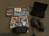 Sony PSP console with games