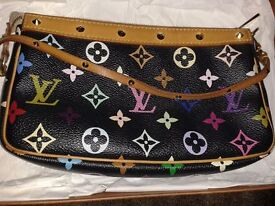 Authentic Louis Vuitton Black Multicolour Monogram Pochette 21 - Used but vgc! £250 OnO