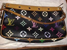 Authentic Louis Vuitton Black Multicolour Monogram Pochette 21 - Used but vgc! £200