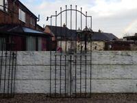 Wrought iron gate / Garden gate / Metal gate / Steel gate / Tall gate / Entry gate / Side gate