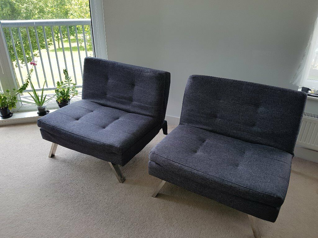 Groovy Charcoal Duo 2 Seater Clic Clac Sofa Bed Argos Easily Converts Two Recliners Or One Sofa In Plymouth Devon Gumtree Machost Co Dining Chair Design Ideas Machostcouk