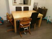 Marks and Spencer extending dining table & 6 next chairs