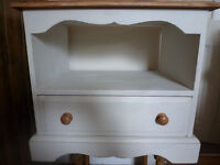 Shabby Chic Painted Bedside Table Cabinet Drawer Solid Pine Wood Storage Shelf Bedroom Furniture