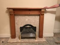 Marble fire surround inserts and hearth