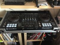 Pioneer DDJ-RZ 4 Channel Rekordbox DJ Controller, including flight case and dust cover