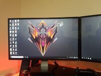 "Two Dell 24"" monitors IPS gaming"