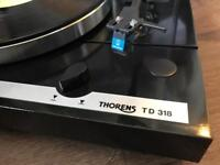 Thorens TD318 Hifi Turntable / Record Player with Audio Technica AT110E