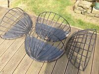 4 Hay Rack Planters, high quality metal framed thick plastic coating. 64 cm wide £10 all the set
