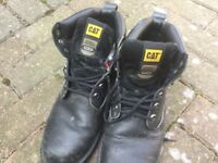 Men's cat work boots Size 10