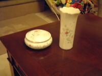Ainlsey, Summer sketches, fine bone china, two pieces, excellent condition. gold rim