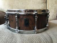 "RARE Mapex Black Panther ""Retrosonic"" Walnut 5.5x14 Snare Drum and Case"