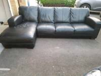 4 seater leather corner with king seat