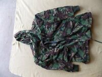 ex army camo jacket,heavy duty sz large