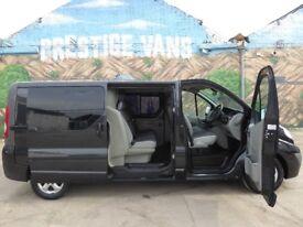FINANCE AVAILABLE!! NO VAT!! Stunning Vauxhall Vivaro 6 seat crew van finished in panther black....
