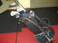 junior left handed golf clubs and bags
