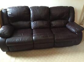 3 piece full reclining suite
