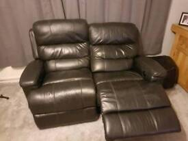 Leather electric reclining suite