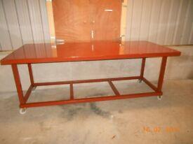 new heavy duty mobile steel workbench ( work bench )
