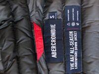 Abercrombie jacket in black/grey
