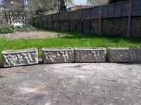 4 x Stone Planters