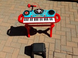 Toy keyboard and guiter