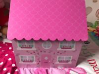 Beautiful wooden house toy box
