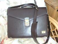 Antler brown briefcase