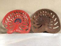 Vintage Albion cast iron seats.