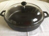 Hob top lidded Frying/casserole Pan
